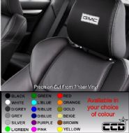 GMC / General Motors Logo Car seat Decals